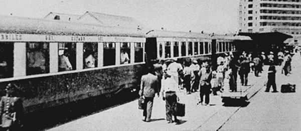 El tren llegaba al corazón de la península, por lo que hoy es la actual Boulevar Artigas