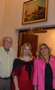 Benito Stern, su señora y acompañante