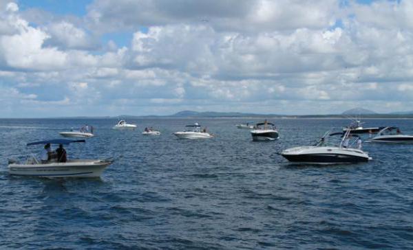 Algunas de las embarcaciones durante la competencia