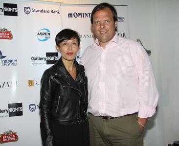Ana Torrejón junto a Gastón Deleau