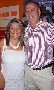 Marita Miranda junto a Eduardo Aymat
