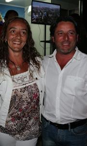 Luis Giambroni y señora