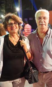 Arquitecto Julio Riela y señora