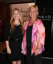 Pina Darcyl junto a Liliam Kechichian, Ministra de Turismo y Deporte