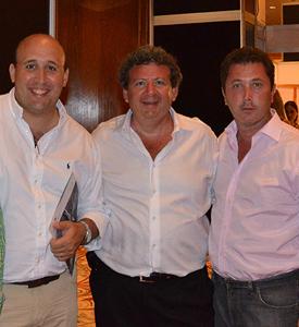 Ingeniero Marcos Taranto, director de Stiller, Darío Sokolowsky y Silvano Geller, directores de Grupo S&G