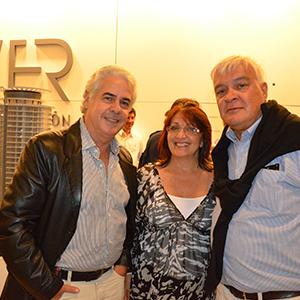 Arquitecto José Luis Real, escribana Eleonora Merlo y arquitecto Carlos Ott