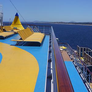 Hermosa vista desde el crucero a la bahía de Punta del Este