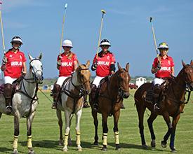 Uno de los 4 equipos femeninos que fueron parte del torneo que se llevó a cabo en la estancia