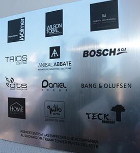 Las marcas líderes que acompañan el proyecto