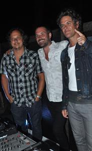 Hernán Sas, Ale Lacroix y Mike Amigorena