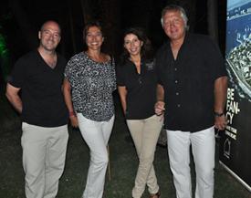 Pablo Sánchez, director de Marketing de Covello, Patricia Abad, Marisol Nicoletti y Héctor Liberman, director de Walmer