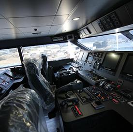 Vista del interior de la sala de comandos