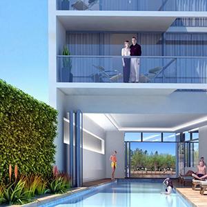 Imagen de la piscina exterior que disfrutarán los habitantes de Arroyo Carmelo