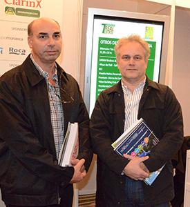 Arquitecto Gustavo E. Pigni junto al Arquitecto Pablo Manuel Cardín