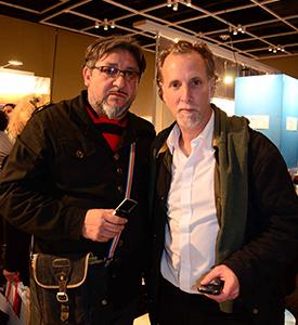 Jorge Amado y Julio Sanders realizando cobertura fotográfica en la Expo