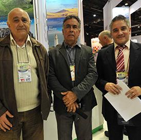 Pedro Quartino director de Turismo, Intendencia de Rocha, Mario Barceló, director de secretaría de comunicación y Oscar Iroldi, coordinador de equipo técnico Organización de Gestión Destino
