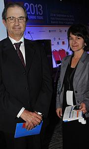 Ingeniero José Chouhy director de Nordelta y Débora Sunico, directora comunicaciones SIT 2013