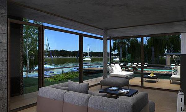La nobleza de los materiales, combinados en tonos cálidos con una exquisita arquitectura, dan vida a amplios ambientes con excelentes vistas al parque, a los amenities y al arroyo