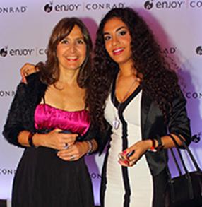 María Fernández junto a Julieta Rada