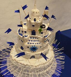 Casapueblo transformada en torta de cumpleaños para Carlos