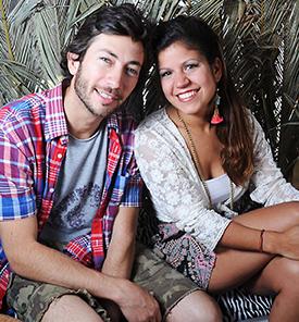Giselle y Agustín, dueños de Fish and Chips