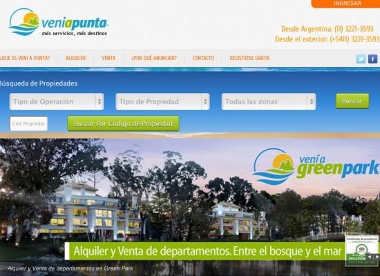 Nuevo portal de Vení a Punta
