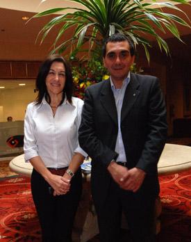 Mariela Zubizarreta, Directora de Turismo de Colonia y Santiago Unanian, Director de Desarrollo Económico e Integración Regional - División Turismo