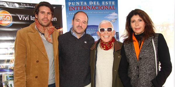 Marisol Nicoletti junto a Nicolás Tarallo, Pablo Sánchez y Carlos Perciavale (Fotografía gentileza de Pablo Kreimbuhl, Revista Caras)