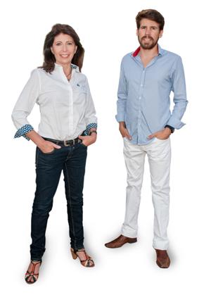 Marisol Nicoletti junto a Nicolás Tarallo Directores de Punta del Este Internacional.