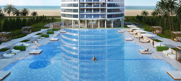 Gran piscina, excelente spa, gimnasio de primera, son algunos de los amenities que encontrarán los habitantes de Trump Tower Punta del Este