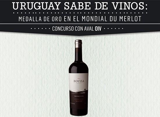 Uruguay obtuvo una Medalla de Oro en el Mondial du Merlot
