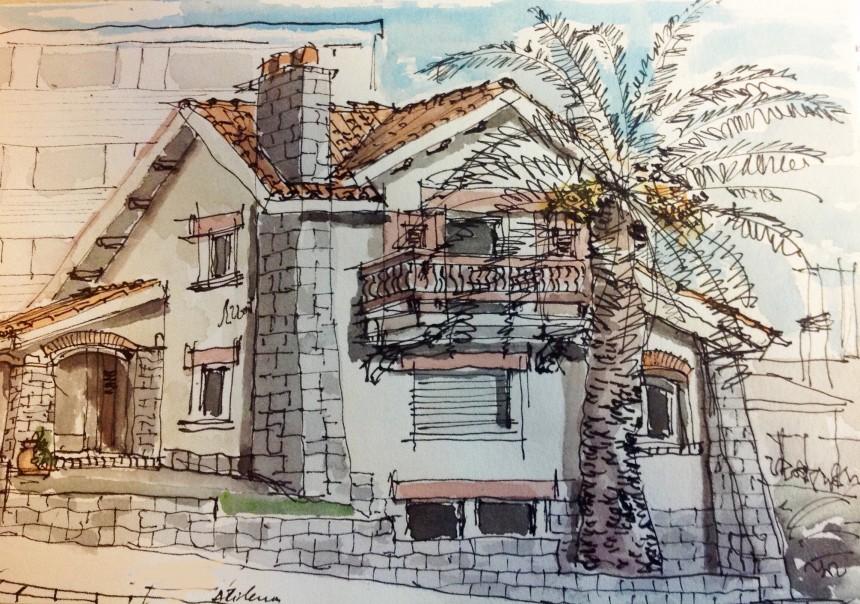 Atilena: croquis del Arquitecto Jose Eduardo Mariño
