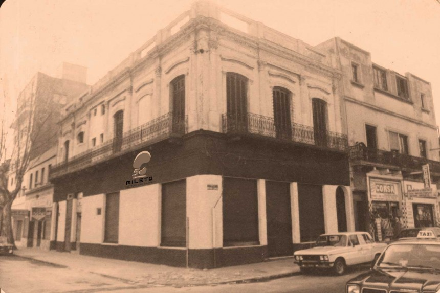 Primer local comercial de Mileto en Montevideo
