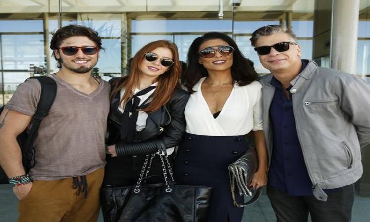 El elenco de 'Totalmente demais' que rodó en Uruguay algunas escenas finales de la telenovela.