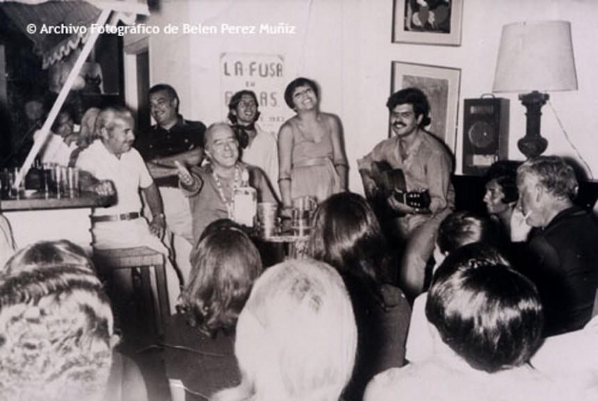 Los años dorados de La Fusa - Foto del archivo de Belén Pérez Muñiz, cantante e hija de los dueños de este mítico boliche.