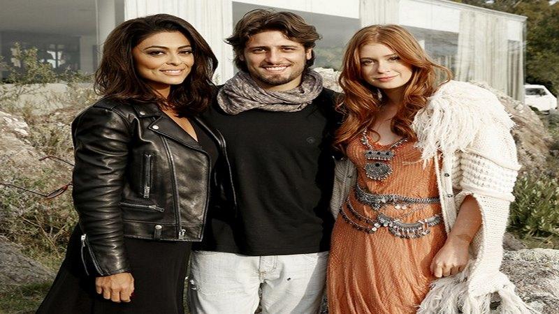 Los actores brasileños Juliana Paes, Daniel Rocha y Marina Ruy Barboza visitaron Uruguay para rodar escenas de 'Totalmente demais'
