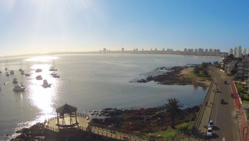 La Glorieta, un símbolo de la rambla de Punta del Este, un paseo inevitable que también será mejorado para todos sus visitantes.