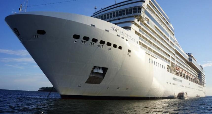 Foto de Punta del Este Internacional del Crucero MSC, barco de lujó que visitó Punta del Este durante la pasada temporada 2015.