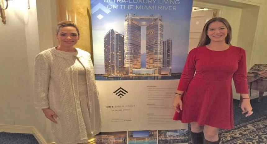 Adriana Vargas Hernandez, Directora de Ventas One River Point y Sabina Covo, Directora de Sabina Covo Communications.
