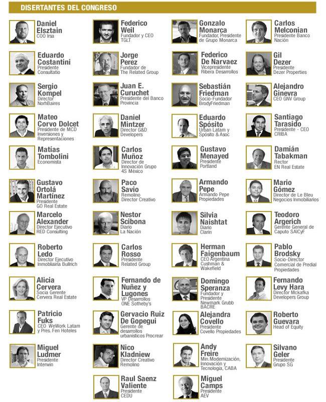 Más de 50 disertantes, que hablarán sobre diversos temas vinculados al Real Estate, la actualidad y las últimas tendencias del sector.