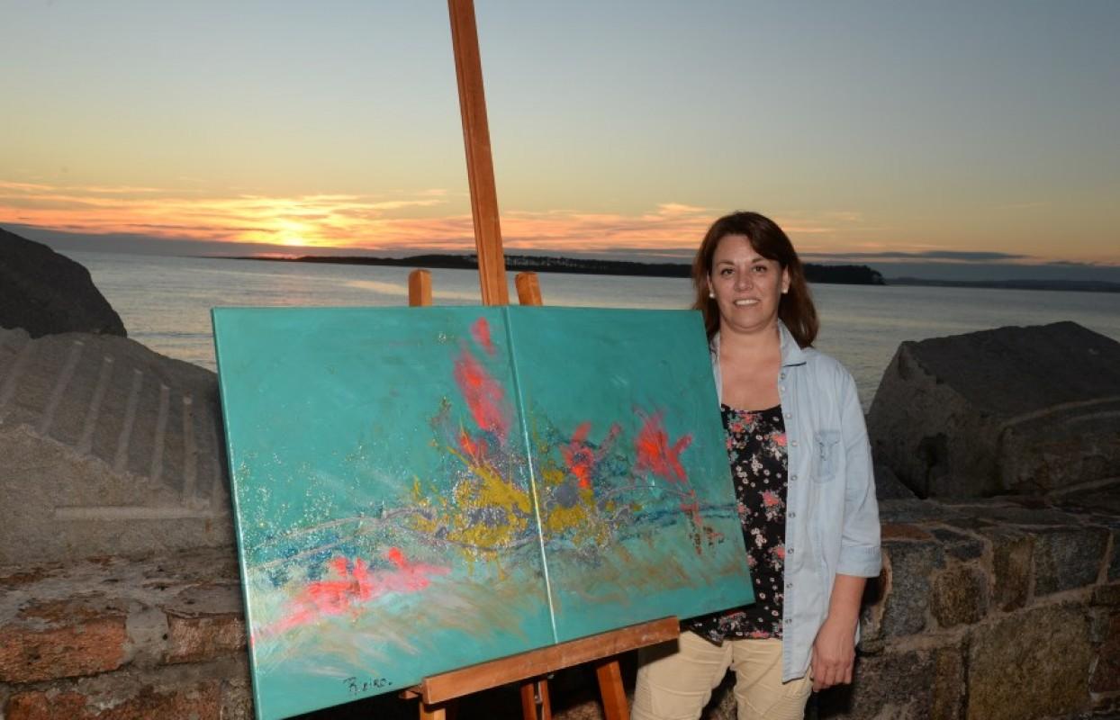 Gabriela Rieiro, la artista que pinta el alma del vino