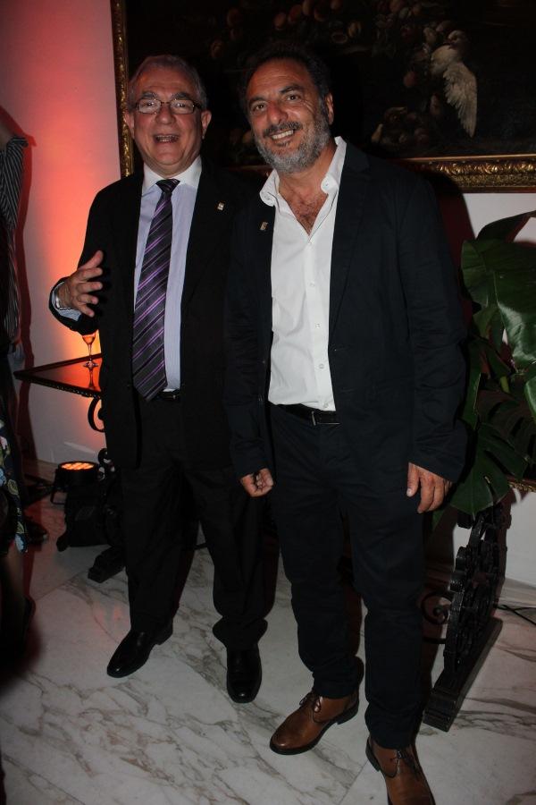 El director de Turismo de la Intendencia de Maldonado, Luis Borsari y el alcalde de Punta del Este, Andrés Jafif.