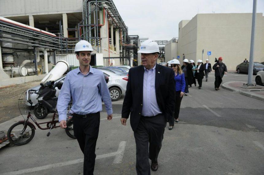 Visita en diciembre de 2016 del canciller Rodolfo Nin Novoa en Israel, recorriendo la mayor planta desalinizadora del mundo, Sorek, en Israel.